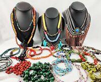 Bohemian Jewelry Lot Vintage Modern Seed Beads Stone Southwestern Statement