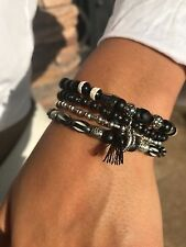 Chan Luu Black Stretch Bracelet Set New Item!! #CHB33
