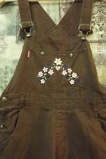 Womens Coveralls D'Mode Classix Brown Jean Adjustable Straps Small 32x30