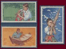 LAOS N°37/39** Musiciens, Musique, TB, 1957,  Musical instruments MNH