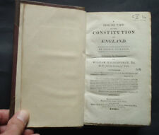 CONCISE VIEW OF THE CONSTITUTION OF ENGLAND by G. Custance / Kings / Clergy 1803