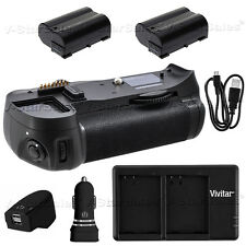 Battery Grip for Nikon D7000 + 2x EN-EL15 Battery + AC/DC Dual Charger Kit