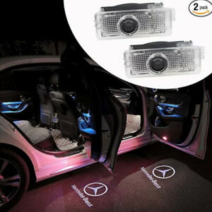 2X LED logo door courtesy laser projector light For Mercedes-Benz CLS 2011-2019
