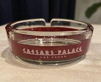 "Vintage Caesars Palace LV Glass Ashtray 1960's 3 1/2"" In Diameter"