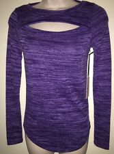 "JUICY COUTURE Women's Long Sleeve Knit Top Blouse""CROWN JEWEL""Purple Size XS NWT"