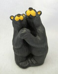 """Bearfoots Bears """"Bearfoot Swing"""" Dancers Figurine Big Sky Carvers"""