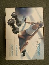 Tone Fitness Dumbbells 10 LB Set (Two 5 LB Weights) Black Weight Yoga 4,5 KG New