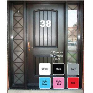 """7"""" Big House Door Wheelie Bin Numbers Letters Self Adhesive Vinyl Decals Sticker"""