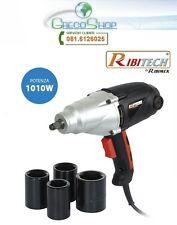 Avvitatore pneumatico elettrico/Chiave impulsi 1010W in valig.Ribimex PRCCEKIT5