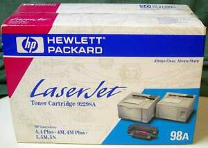 Toner 92298A HP L/Jet 4/M 4+/M+  5/N/M EPE 92298A -  6000 pages @ 5% coverage.