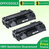 2PK CE505A Black Toner Cartridge for HP 05A LaserJet P2035 P2035n P2055dn P2055d