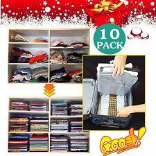 10Pcs/Set Clothes EZSTAX  Folder Magic Folding Rack Holder Board Flip Fold BPZ