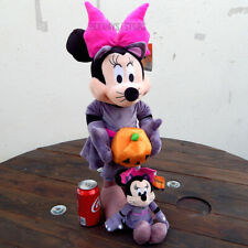 "DISNEY CAT MINNIE 24"" HALLOWEEN GREETER & SMALL PLUSH matching set rare 2019 new"