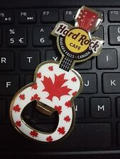 HARD ROCK CAFE NIAGARA FALLS CANADA LEAF GUITAR OPENER MAGNET