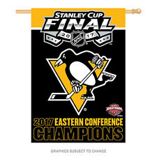 2017 NHL Stanley Cup Eastern Conference Champions Banner Pittsburgh Penguins