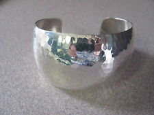 """Sterling Silver Womens Cuff Bracelet 11/2"""" WIDE, Hand-Hammered, Custom , 925 NEW"""