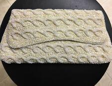 Vintage La Regale Off White Clutch Handbag, Never Used, One Owner Excellent Cond