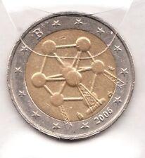 G056 Moneta Coin BELGIO: 2 euro 2006 Commemorativa Atomo