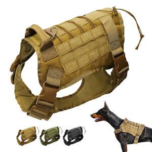 Military Tactical K9 Police Molle Dog Harness Police German Shepherd Vest Large