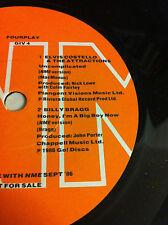 "NME Fourplay 4-track 7"" EP Mantronix Elvis Costello Miles Davis Billy Bragg 1986"