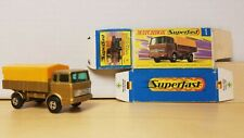 MATCHBOX Lesney SUPERFAST MERCEDES TRUCK No. 1 & Original Box