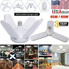 E27 LED Garage Light Bulbs Deformable Ceiling Fixture Lights Shop Workshop Lamp