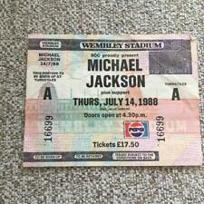 Michael Jackson Unused ticket Wembley Stadium 14/07/88 #16699  Bad tour