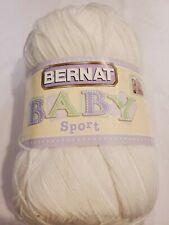 New listing Bernat baby sport yarn 12.3 oz baby white new. 1 skein.