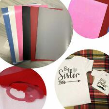 6PCS A4 Sheet PU Heat Transfer Vinyl Iron-on Fabric Tshirt Press Cutter Film DIY