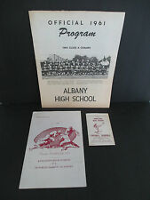 Lot of 3 Kingston NY High School FOOTBALL Programs & Schedule, 1959-61