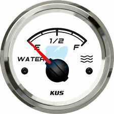 KUS Water Level Gauge Marine Boat Truck Car Water Tank Indicator 52mm 0-190ohm