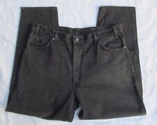 Levis Straight Leg Black Denim Jeans Mens 40 30 USA Made black tab