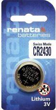 Renata CR2430N Lithium Watch Key Fob Gadget Battery 3v Swiss Made x 1 unit
