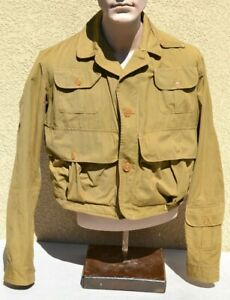 VINTAGE 1940'S MENS FLY FISHING JACKET THE FEATHER BY DRYBAK