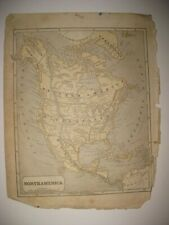 ANTIQUE 1852 NORTH AMERICA MAP UNITED STATES TEXAS CALIFORNIA CANADA ALASKA RARE