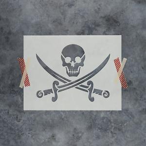 Pirate Stencil - Durable & Reusable Mylar Stencils
