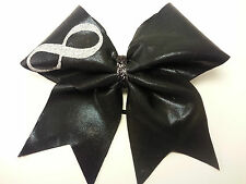Infinity Black Mystique Cheer Hair Bow