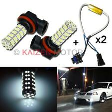 2 x 6000K White 68-SMD H11 LED Bulbs + Load Resistors Fog Light Driving Light