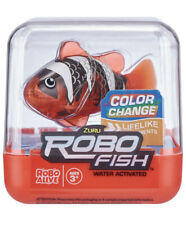 ZURU ROBO FISH - RED BLACK & WHITE! ROBO ALIVE! WATER ACTIVATED! VERY RARE! UK!