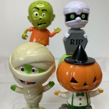 Solar Powered Bobble Dancing Toy 4 Halloween Frankenstein Mummy Jack O lantern
