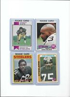Steelers Steel Curtain Rookie Lot 1975 Holmes 1973 White 1972 Greenwood Greene