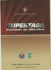 Orig.PRG  Portugal Supercup 2008  FINAL  SPORTING LISSABON - FC PORTO  !!  RARE