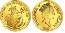 Polierte Platte Gold Münzen aus den USA