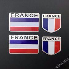 4x France French Flag Emblem Car Badge Decal Sticker For Peugeot Citroen Renault