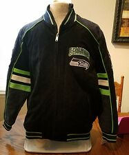 SEATTLE SEAHAWKS Cotton Twill Jacket Sewn Logos 2X  BRAND NEW WITH TAGS!!  WOW