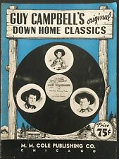 """1948 """"Guy Campbell'S Down Home Classics"""" Sheet Music Song Book Country Western"""