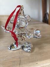 Stunning Vtg Disney Mickey Mouse Sorcerer's Apprentice Clear Glass Ornament