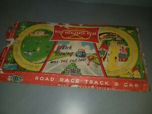 Vintage Mettoy Playthings England Tin Toy Race Track