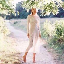 BNWT Zimmermann Anais Lace Sheath Dress Size 1 RRP $595 Ivory