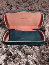 GUCCI Green Velvet Large Sunglasses Case + Pouch